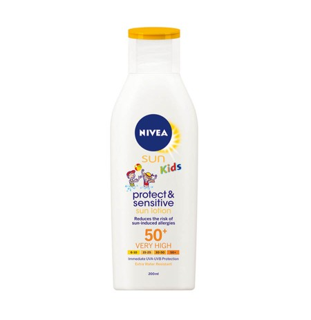 Nivea Lotion Kunder Diellit Protect & Sensitive me SPF 50+