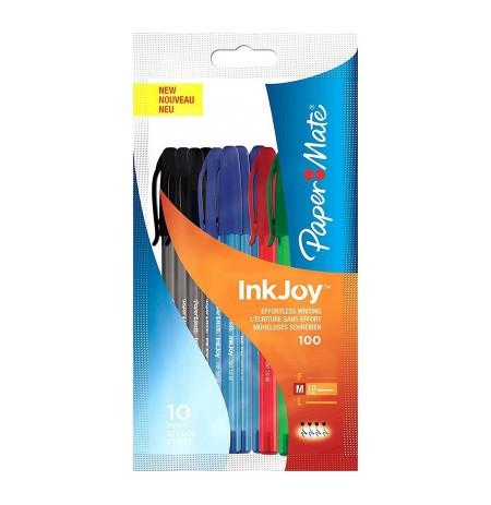 Paper Mate Stilolaps Ink Joy 100 Color 10 cope