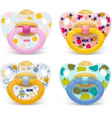 Nuk Biberon Rrens Latex 6-18m Happy Kids