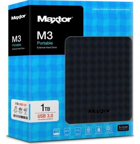 """HDD Seagate Maxtor M3 1TB 2.5"""" USB 3.0 i Jashtem"""