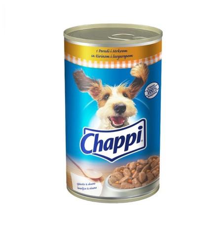 Ushqim per Qen me Mish& Karrote Chappi 400 Gr