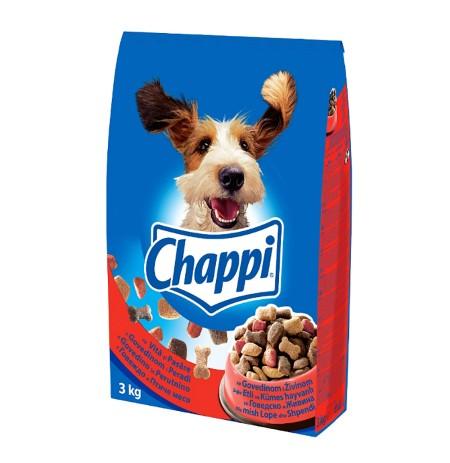 Ushqim per Qen me Mish Lope & Shpendesh Chappi 3 Kg