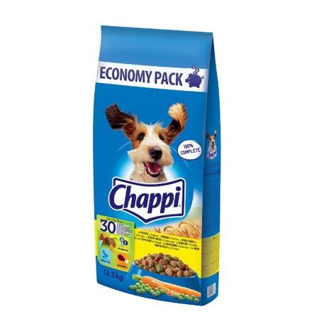 Ushqim per Qen me Mish Shpendesh & Perime Chappi 13.5 Kg