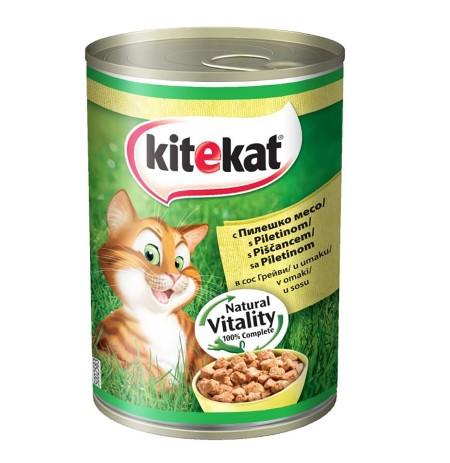 Ushqim per Mace me Mish Pule Kitekat 400 Gr