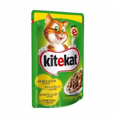 Ushqim per Mace me Mish Pule Kitekat 100 Gr