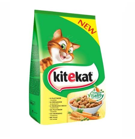 Ushqim per Mace me Mish Pule dhe Perime Kitekat 300 Gr