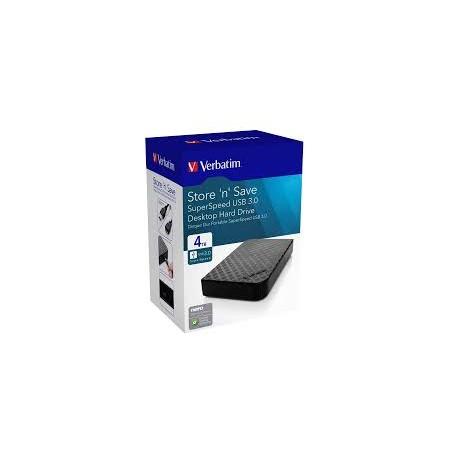 """HDD Verbatim External 4TB 3.5"""" USB 3.0"""
