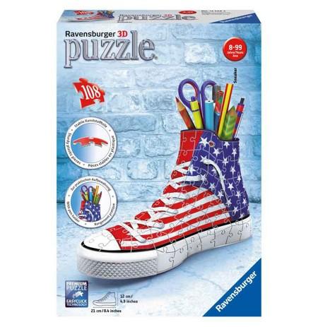 Puzzle Ravensburger 3D Sneaker, American Style 108Pcs