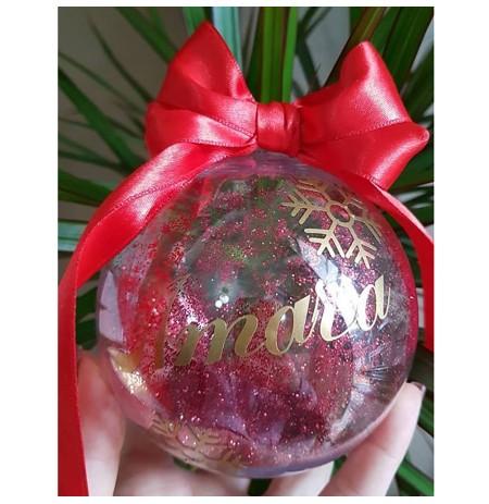 Ornament peme Glob Transparent i Personalizuar