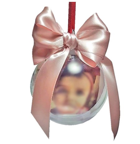 Ornament peme Glob Transparent i Personalizuar me Foto