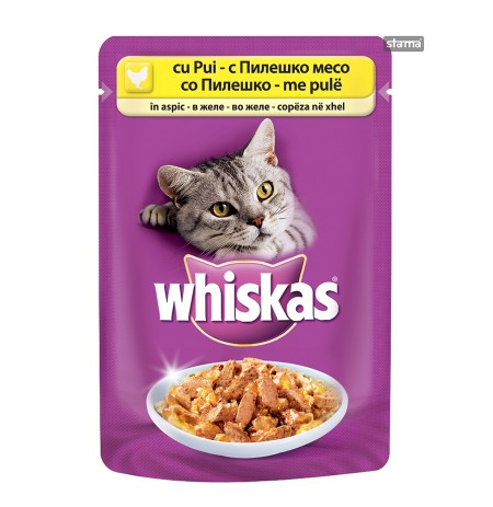 Ushqim per Mace me Mish Pule Whiskas 100 Gr