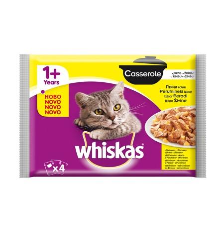 Ushqim per Mace me Mish Whiskas 4 X 85 Gr