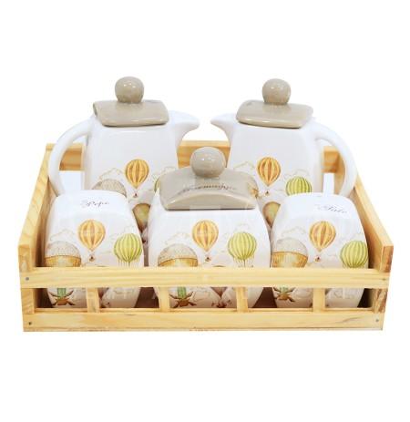 Mbajtese Porcelani per Kuzhine Ballon 5 cope