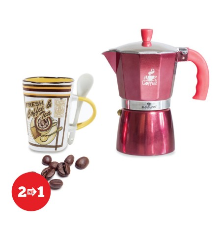 Moka Kafe per 6 filxhane kafeje + Filxhan Caji dhe Kafeje New Style