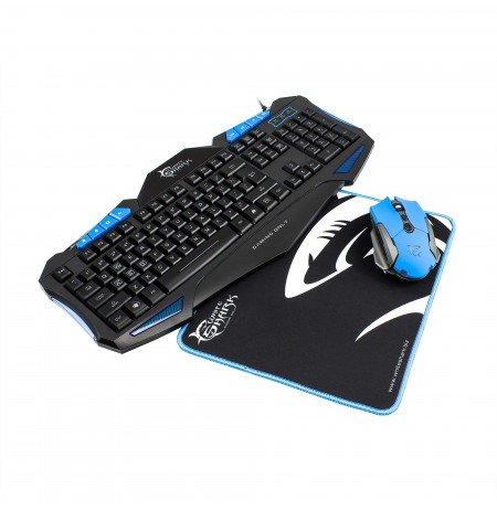 Set White Shark KB + Mouse + Mpad GC-3101