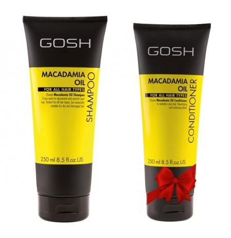 Gosh shampoo Macadamia 250 Ml + Balsam Falas