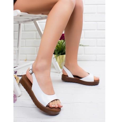 Sandale lekure te bardha Lola