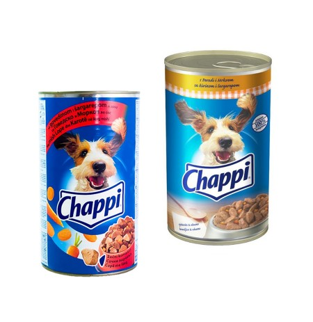 Ushqim per Qen me Mish& Karrote Chappi 400 Gr + Ushqim per Qen me Mish& Karrote Chappi 1.2 Kg