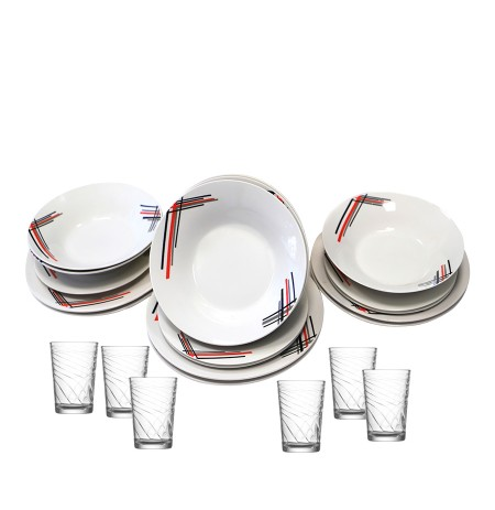 Set pjatash Alcove Red/Black18 cope + Set gotash FLZ215 LAV
