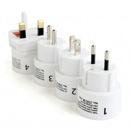 Kabell Gembird Universal Travel Adapter Plug Set