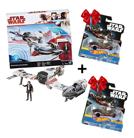 Hasbro Set Force Link Resistance Ski + Dhurate 2 Makina Star Wars 1:64 HOTWHEELS