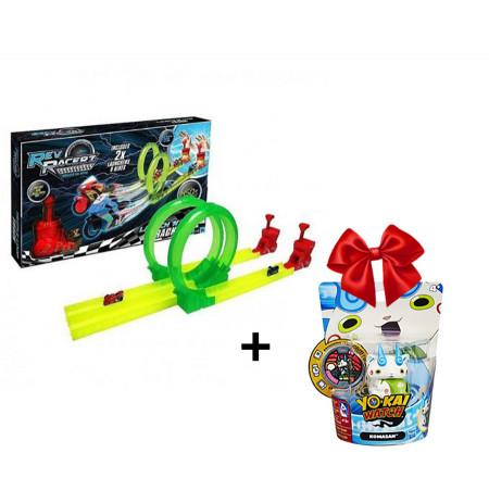 Pista e Motorrave Revracer Launch Track + Dhurate Yokai Figure Hasbro