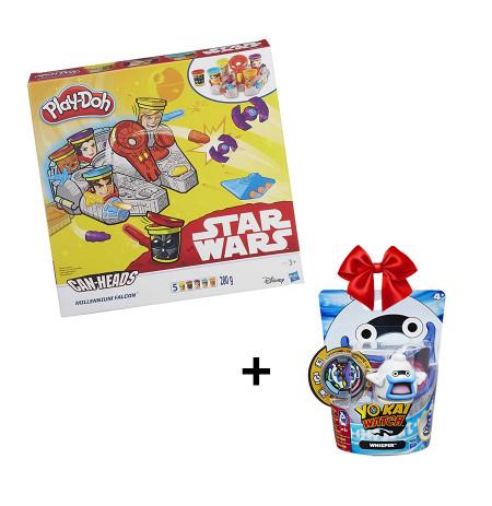 Play Doh Set Plasteline Star Wars Falcon + Dhurate Yokai Figure Hasbro
