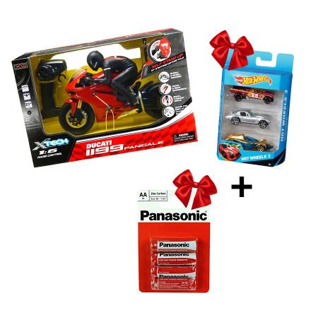 Motor Ducati Xtech + Panasonic Bateri x4 + HotWheels Makina 3X1