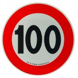 Etiketa reflektuese shpejtësie 100 km/h
