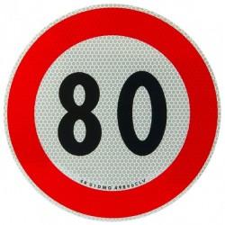 Etiketa reflektuese shpejtësie 80 km/h