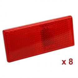 Reflektues adeziv set8 Kuqe