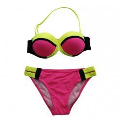 Rroba Banjo per Femra Pink dhe Jeshile Neon
