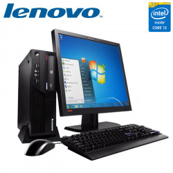 "Set Lenovo Core i3 4GB + Monitor Lenovo 19"""