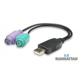 Kabull konvertues USB ne PS/2 Manhattan