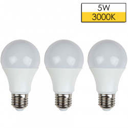 Set 3 Cope Llampa LED ISKRA A60 E27 5W 3000K