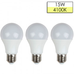 Set 3 Cope Llampa LED ISKRA A65 E27 15W 3000K