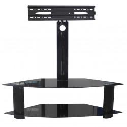 "Tavoline per TV 24""-55"" Black Matte Glass"