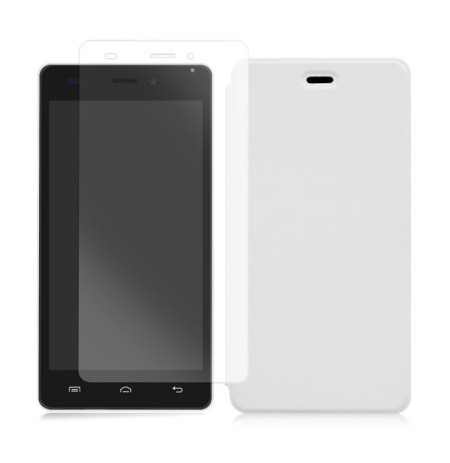 Doogee X5 / X5PRO, Book Cover dhe Xham Mbrojtes White