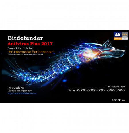 Bitdefender Antivirus Plus 2017,1 Liçensë/1 Vit