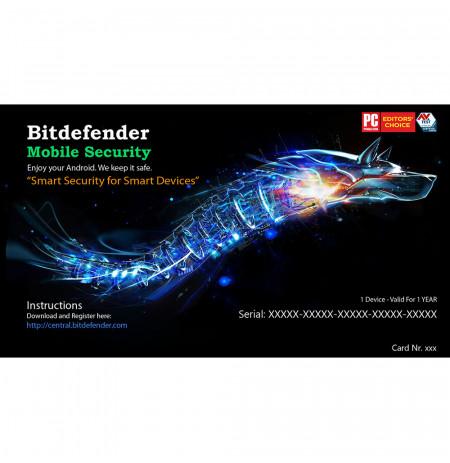 Bitdefender Mobile SecurityAndroid 2017, 1 Liçensë/1 Vit