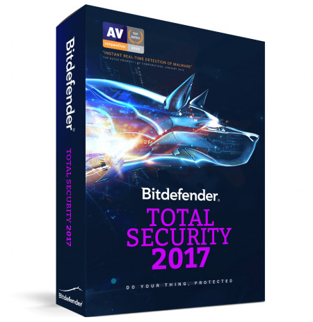 Bitdefender Total Security 2017,5 Liçensa/1 Vit