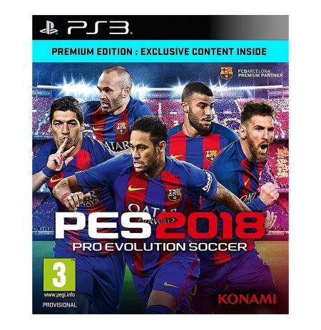 Ps3 Pro Evolution Soccer 2018 Premium Edition