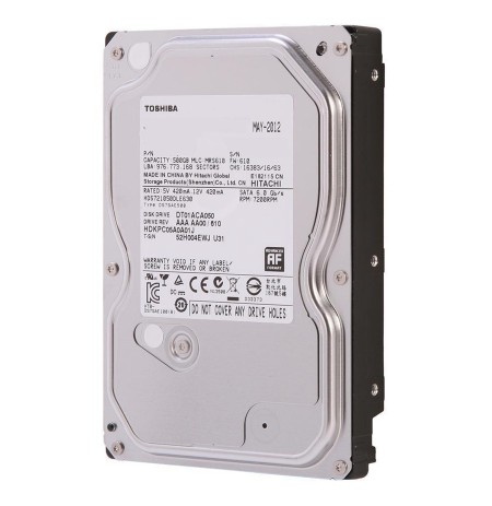 Toshiba HDD 500GB, SATA 6Gb/s, 7200rpm, 32MB