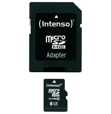 Card Micro SDHC 8 gb Class 10 Intenso Me Adaptor Card